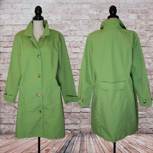 Old Navy Fern Green Trench Coat Size XXLarge